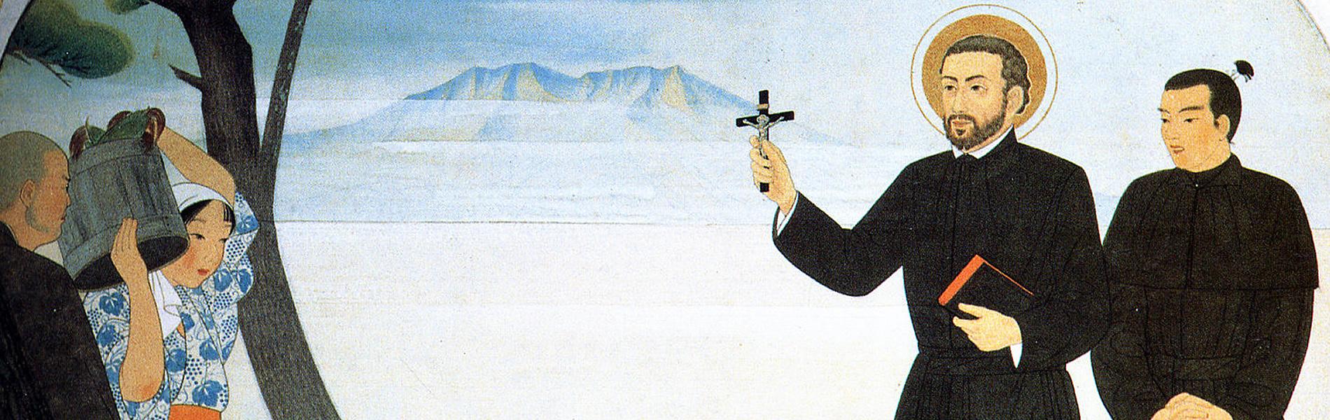 聖フランシスコザビエル上陸の図(一部)
